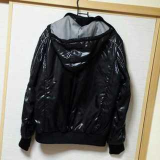 ナイロンジャケット フード L 黒2.jpg